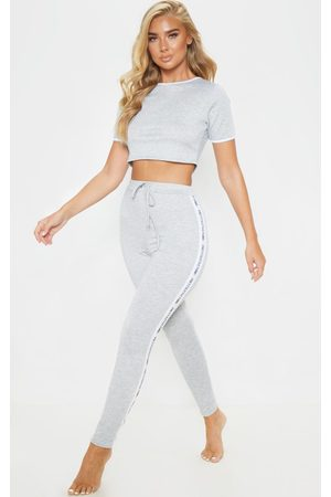 PRETTYLITTLETHING Women Pajamas - Grey Long PJ Set