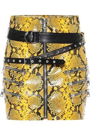 UNRAVEL Snake-print miniskirt
