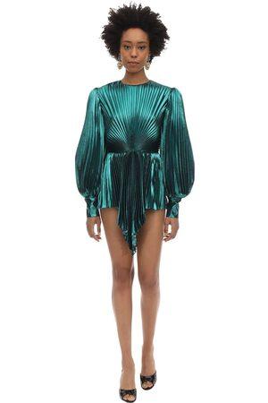 Gucci Women Party Dresses - Pleated Silk Blend Lurex Mini Dress