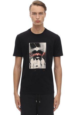 Neil Barrett Printed & Stitched Cotton Jersey T-shirt