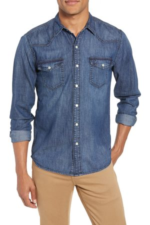 Frame Men's Pc Slim Fit Denim Western Shirt