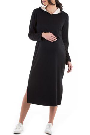 Angel Maternity Women's Long Sleeve Hoodie Maternity/nursing Dress
