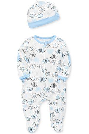 Little Me Boys' Elephant Footie & Hat Set - Baby