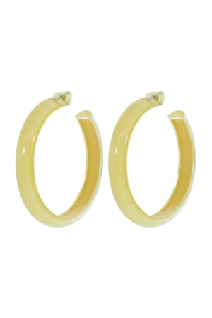 ALISON LOU Medium Banana LOUcite Jelly Hoops