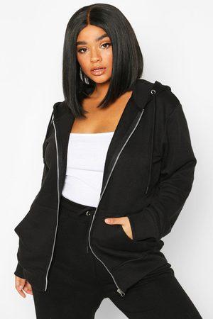 Boohoo Womens Plus Basic Oversized Zip Through Hoody - - 12