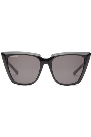 Balenciaga Oversized Cat-eye Acetate Sunglasses - Womens