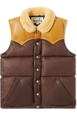 The Real McCoys The Real McCoy's Mouton Collar Leather Vest