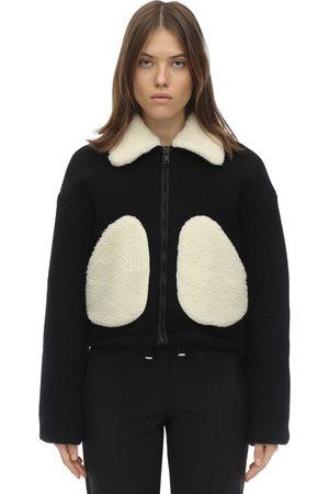 Courrèges Women Blazers - Short Faux Shearling & Wool Jacket