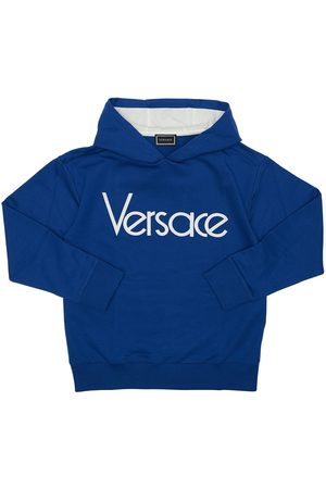VERSACE Logo Cotton Sweatshirt Hoodie