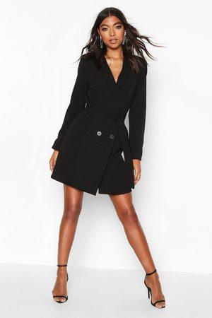 Boohoo Womens Tall Belted Blazer Dress - - 2