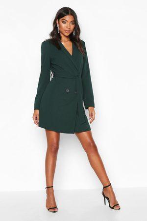 Boohoo Womens Tall Belted Blazer Dress - - 4