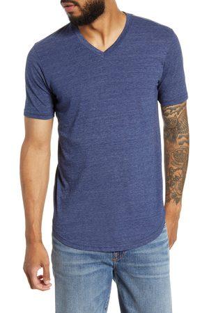miss goodlife Men's Scallop Triblend V-Neck T-Shirt