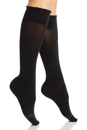 HUE Graduated Compression Opaque Knee-High Socks
