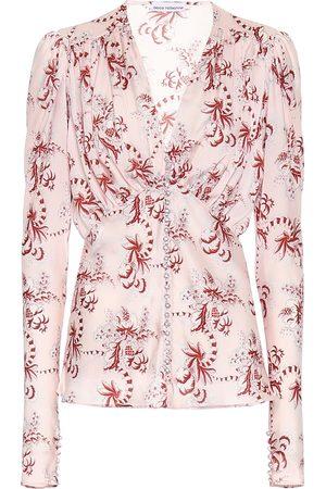 Paco rabanne Embellished satin blouse