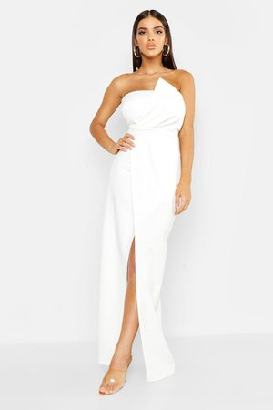 Boohoo Womens Bandeau Wrap Detail Maxi Dress - - 6