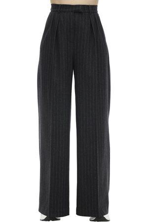 LESYANEBO Wide Leg Wool Blend Pants