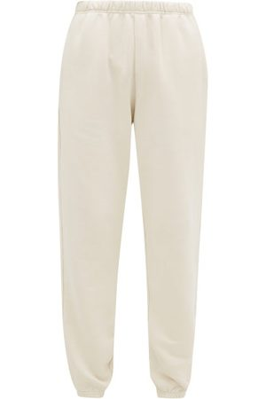 Les Tien Brushed-back Cotton Track Pants - Womens - Ivory