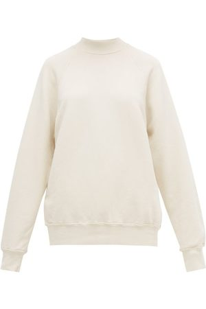 Les Tien High-neck Brushed-back Cotton Sweatshirt - Womens - Ivory
