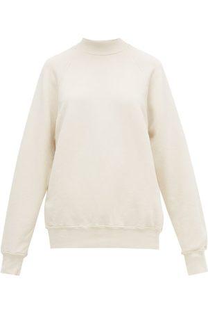 Les Tien Women Sweatshirts - High-neck Brushed-back Cotton Sweatshirt - Womens - Ivory