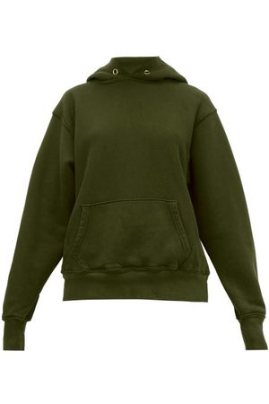 Les Tien Women Sweatshirts - Brushed-back Cotton Hooded Sweatshirt - Womens - Khaki