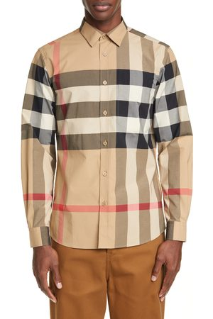 Burberry Men's Somerton Plaid Button-Up Shirt