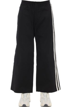 Y-3 Three Stripes Wide Leg Gabardine Pants