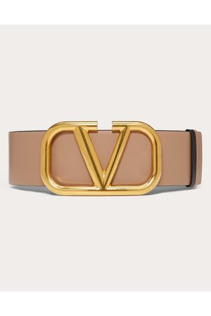 VALENTINO GARAVANI Reversible Vlogo Signature Belt In Glossy Calfskin 70 Mm Women 100% Pelle Di Vitello - Bos Taurus 65