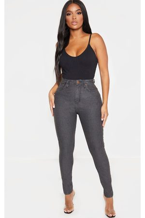 PRETTYLITTLETHING Shape Charcoal High Waisted Skinny Jean