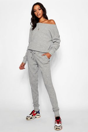 Boohoo Womens Tall Slash Neck Knitted Lounge Set - - L/Xl