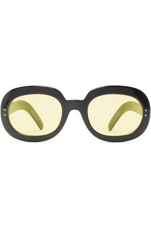 Gucci Men Round - Oval Acetate Sunglasses - Mens