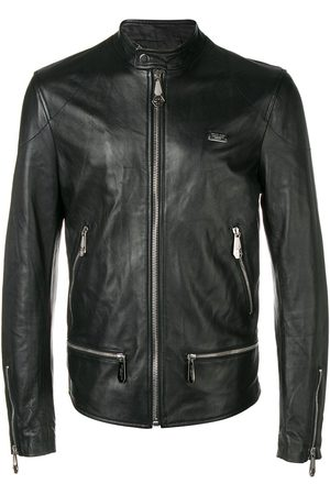 Philipp Plein Men Leather Jackets - Classic motorcycle jacket