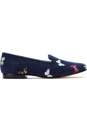 Blue Bird Women Slippers - Suede Borboletas slippers