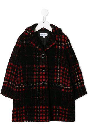 Simonetta Plaid buttoned coat