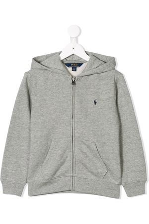 Ralph Lauren Boys Hoodies - Zipped logo hoodie - Grey