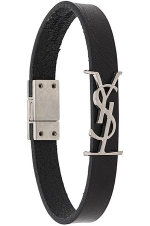 Saint Laurent Men Bracelets - Monogram leather bracelet