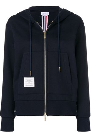Thom Browne Center-Back Stripe Zip-Up Hoodie