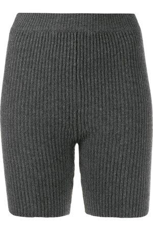 Cashmere In Love Mira knitted biker shorts - Grey