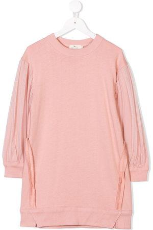 Le pandorine Girls Casual Dresses - Tulle sleeve sweater dress
