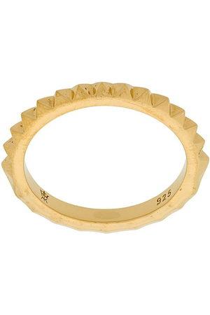 KASUN LONDON Crocodile ring - Metallic