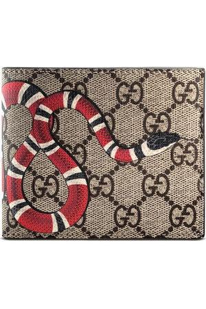 Gucci Kingsnake print GG Supreme wallet - Neutrals