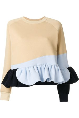 Ioana Ciolacu Frilled colour block sweatshirt - Neutrals