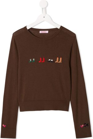 Familiar Embroidered shoes jumper