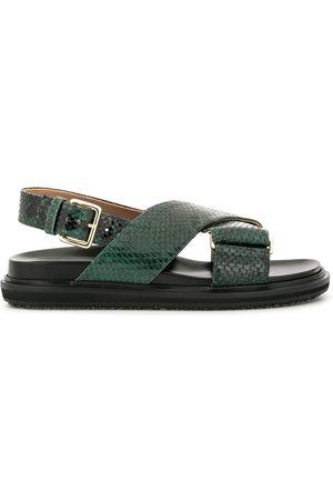 Marni Fussbett snakeskin effect sandals