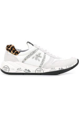 Premiata Women Sneakers - Layla embellished logo sneakers