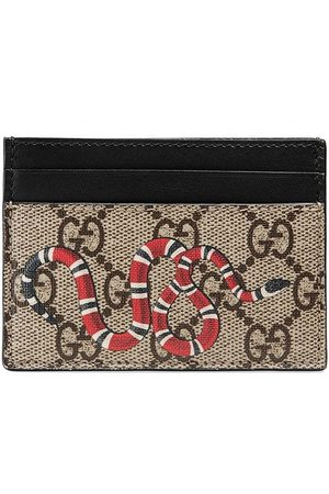 Gucci Kingsnake print GG Supreme card case - Neutrals