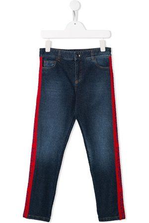 Dolce & Gabbana Boys Jeans - Logo tape denim jeans