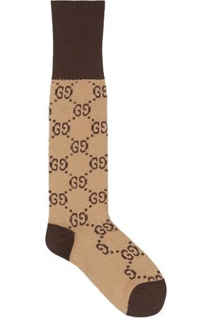 Gucci GG pattern cotton blend socks - Neutrals