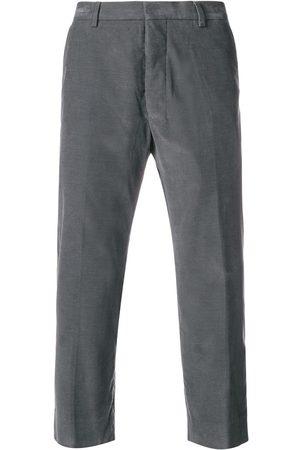 Ami Men Straight Leg Pants - Straight Fit Trousers - Grey