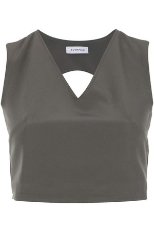 Olympiah Women Crop Tops - Papa cropped top - Grey