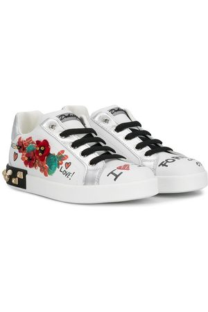 Dolce & Gabbana Girls Sneakers - Graffiti print sneakers